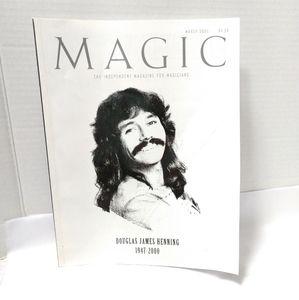 Vintage Magic Magazine Doug Henning 2000